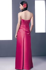 Pink And Black Bridesmaid Dresses Buy Tailor Made Floor Length Ruched Strapless Pink Bridesmaid