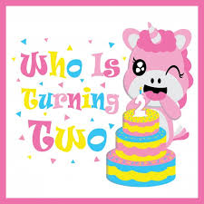 cute baby with birthday cake vector cartoon birthday