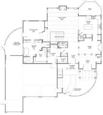 santa fe style home with walkout floor plan u2014 evstudio architect