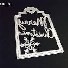 aliexpress buy panfelou metal craft merry christmas notes