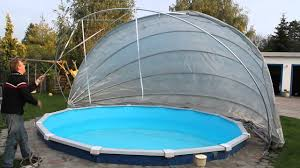 Garten Pool Aufblasbar Kertex Pool Cabriodach Zughilfe Youtube