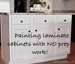 Repurposed Kitchen Cabinets Kitchen Furniture Painting Laminate Kitchen Cabinets Tutorial