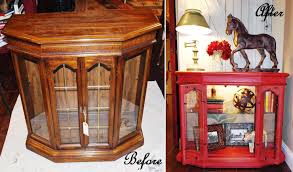 Curio Cabinet Makeover by Miss Mustard Tricycle Red Curio Cabinet Makeover Lynn Fern
