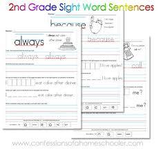 free printable 2nd grade sight word sentences word sentences