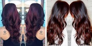 rich cherry hair colour the best brunette hair color shades matrix