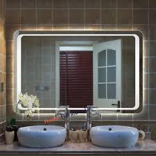 Bathroom Demister Mirrors 800mm X600mm Large Bathroom Led Illuminated Backlit Make Up Mirror