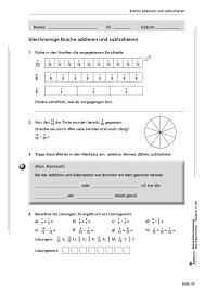 mathe brüche klasse 6 kohl verlag brüche bruchrechnung br mein mathe portfolio