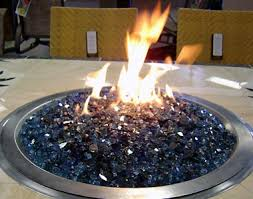 Fire Pit Glass by Patio Tables With Natural Gas Fire Pits And Stainless Steel Burner