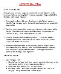 30 60 90 business plan template 100 images 30 60 90 day plan