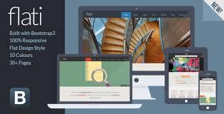 bootstrap design flati responsive flat design bootstrap template by josweb