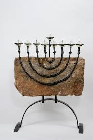 unique menorah stake hannukah menorah unique menorah with forged iron arms by