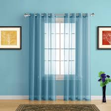 warm home designs faux linen turquoise sheer curtains in 4 sizes Turquoise Sheer Curtains