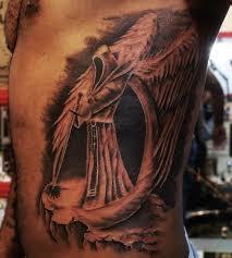 scary dark skull tattoo design on neck tattoo design ideas