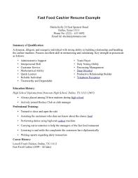 resume examples for restaurant server resume fast food experience food service cover letter samples fast food cashier job description on resume restaurant template