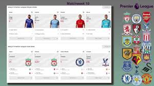premier league results table and fixtures epl matchweek 10 results table stats md 11 fixtures english