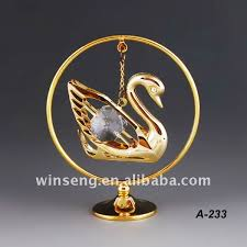 24k gold plated metal swan ornaments for decoration buy swan