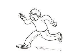 colorings running player sketch