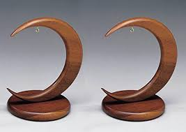 walnut wood ornament stand holders arc shaped premium quality 4
