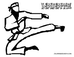 karate coloring pages eson me