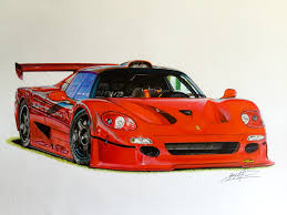 f50 gt specs f50 gt drawing supercar by filo
