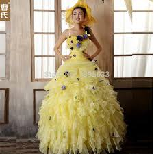 yellow wedding dress purple and yellow wedding dress
