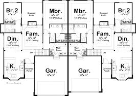 house plans multi family 1 story multi family traditional house plan dalton