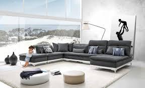Modern Modular Sectional Sofa by Lusso Horizon Modern Grey Fabric U0026 Leather Sectional Sofa Grey