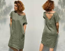 loose linen dress etsy