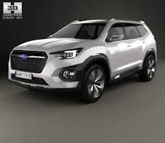 subaru viziv truck subaru viziv 7 suv 2016 3d model hum3d