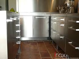 meubles cuisine inox cuisine inox particulier 2 portes ikea recouverte par habillage inox