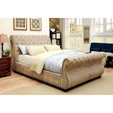 King Size Sleigh Bed Frame Bedrooms Tufted Sleigh Bed King Size Bed Frame With Drawers