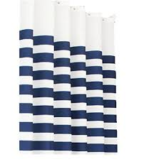 Navy Blue And White Striped Curtains Blue Striped Curtains Amazon Co Uk