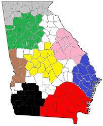 Metro Atlanta County Map by Southwest Georgia Wikipedia