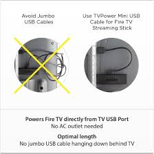 amazon com mini usb cable for powering fire tv stick not