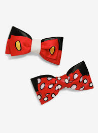mickey mouse hair bow disney mickey mouse minnie mouse faux leather hair bows boxlunch