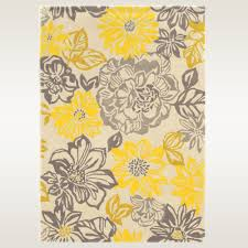 Bright Yellow Bathroom Rugs by Floral Rugs Touch Of Class