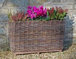 water trough planter large willow trough basket planter l79cm 69 99