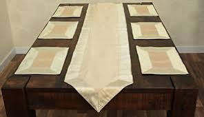 table runner placemat set set of 6 handmade silk blend placemats matching table runner