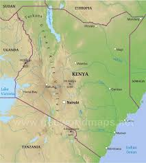 geographical map of kenya kenya physical map