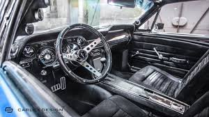 Black 1967 Mustang Fastback 1967 Ford Mustang Fastback Receives A Modern Interior Makeover