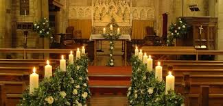 wedding altar decorations church wedding altar and aisle decor