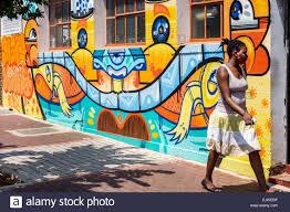 johannesburg south africa african maboneng district arts on main johannesburg south africa african maboneng district arts on main commissioner street gentrified urban neighborhood wall mural painting black woman ped