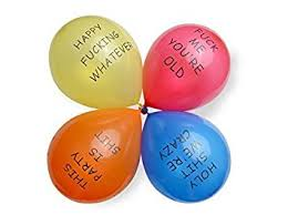 amazon com dear deer abusive balloons for birthday party red