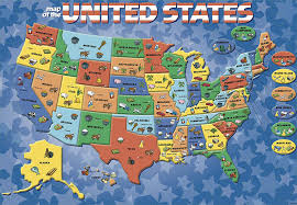 Delaware Map Usa by Amazon Com Cardinal Industries Usa Map Puzzle Toys U0026 Games