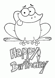 happy birthday coloring pages with frogs coloring home