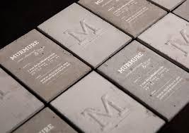 concrete business cards concrete business card