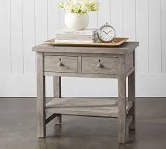Farmhouse Side Table Farmhouse 2 Drawer Nightstand Pottery Barn