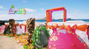 hawaii beach weddings custom designed alters on oahu