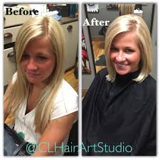 before u0026 after womens haircut long hair to short bob done by