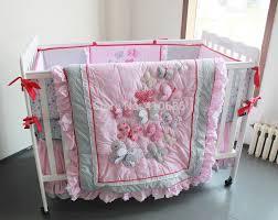 elegant princess baby crib bedding sets 7pcs nursery cot kit set